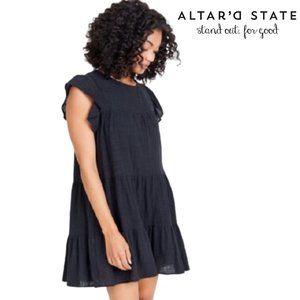 Altar'd States Babydoll Tiered Smock Dress